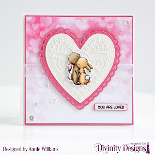Stamp/Die Duos: Somebunny Custom Dies:  Ornate Hearts, Sentiment Strips Paper Collection: Sweet Hearts