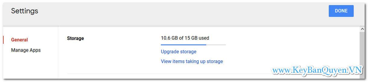 Hướng dẫn kiểm tra dung lượng tài khoản OneDrive và GoogleDrive.