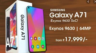 Spesifikasi dan Tampilan Samsung Galaxy A71 [Bocoran]