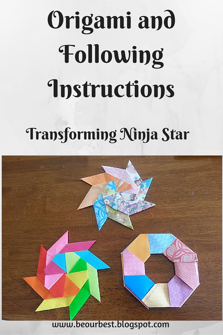 be our best origami and following instructions