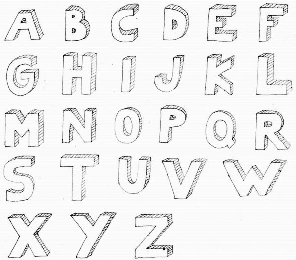 3d Scanner Image: 3d Letters