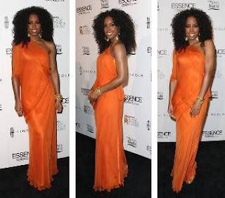 modelo de vestido laranja para noivas negras