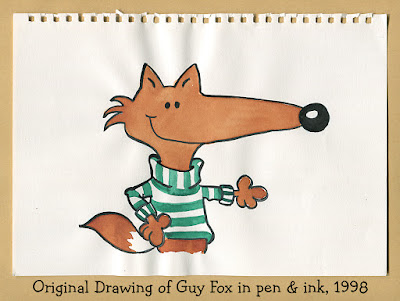 Original drawing of Guy Fox, 1998