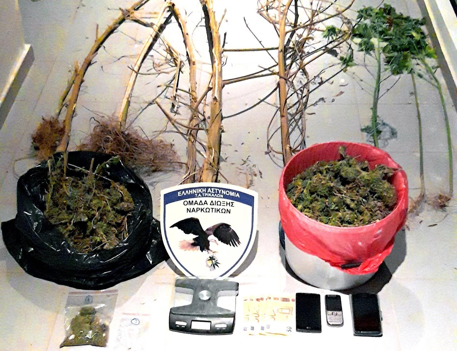 Συνελήφθησαν τρία άτομα στα Τρίκαλα για ναρκωτικά