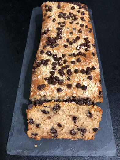 Cake aux flocons de quinoa et aux pépites de chocolat