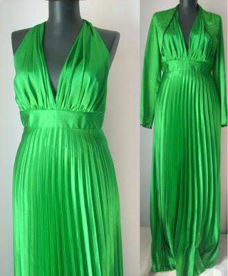 rochie retro verde smarald