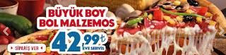 dominos pizza büyük bol malzemos kampanyası