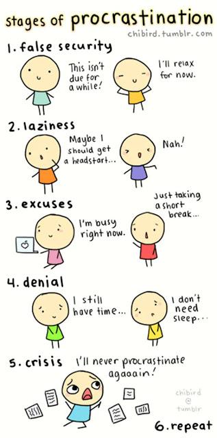 chibird procrastination prokrastionation tipps uni ende des semesters abgabe