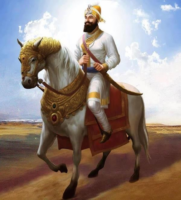 Guru Gobind Singh ji images with horse