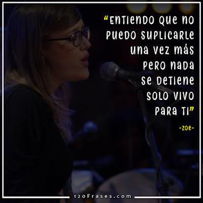 Denise Gutierrez cantando con Zoe en el Mtv Unplugged