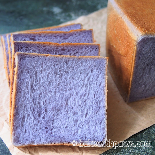 Butterfly Pea Flower Soft Sourdough Bread