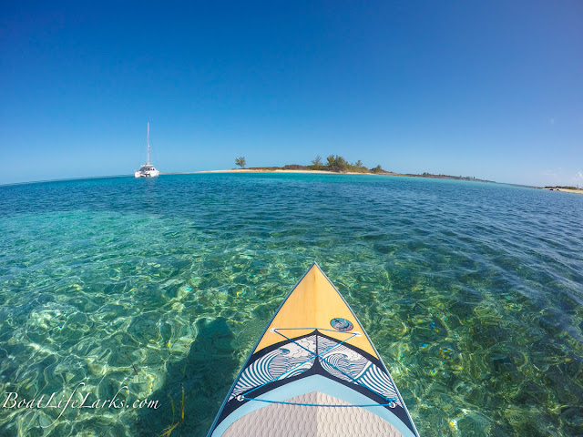 Paddle boarding, Honeymoon Harbor, Bimini Islands