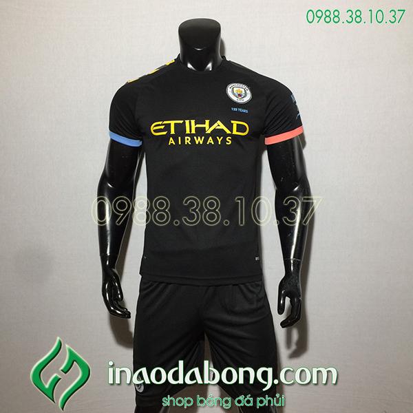 Áo bóng đá câu lạc bộ Man City màu đen 2020