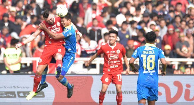 Persija Jakarta vs Persib Bandung Imbang 1-1
