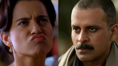 कंगना रानौत अभिनेता मनोज बाजपेयी को फ्लाइंग किस देना चाहती हैं