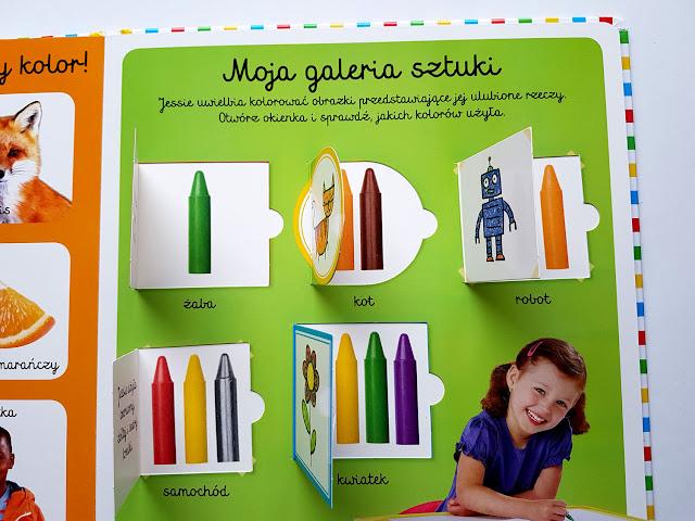 Moja pierwsza książka o kolorach - Egmont - Harper Collins - Harper Kids - Akademia Mądrego Dziecka - książeczki dla dzieci - książki z okienkami