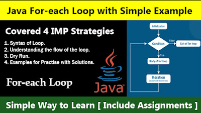 Java For-each Loop with Simple Example