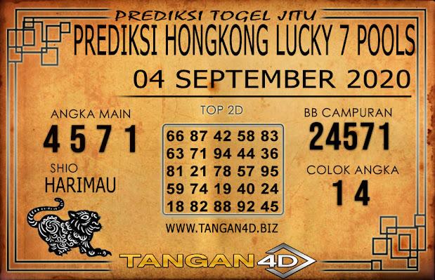 PREDIKSI TOGEL HONGKONG LUCKY 7 TANGAN4D 04 SEPTEMBER 2020