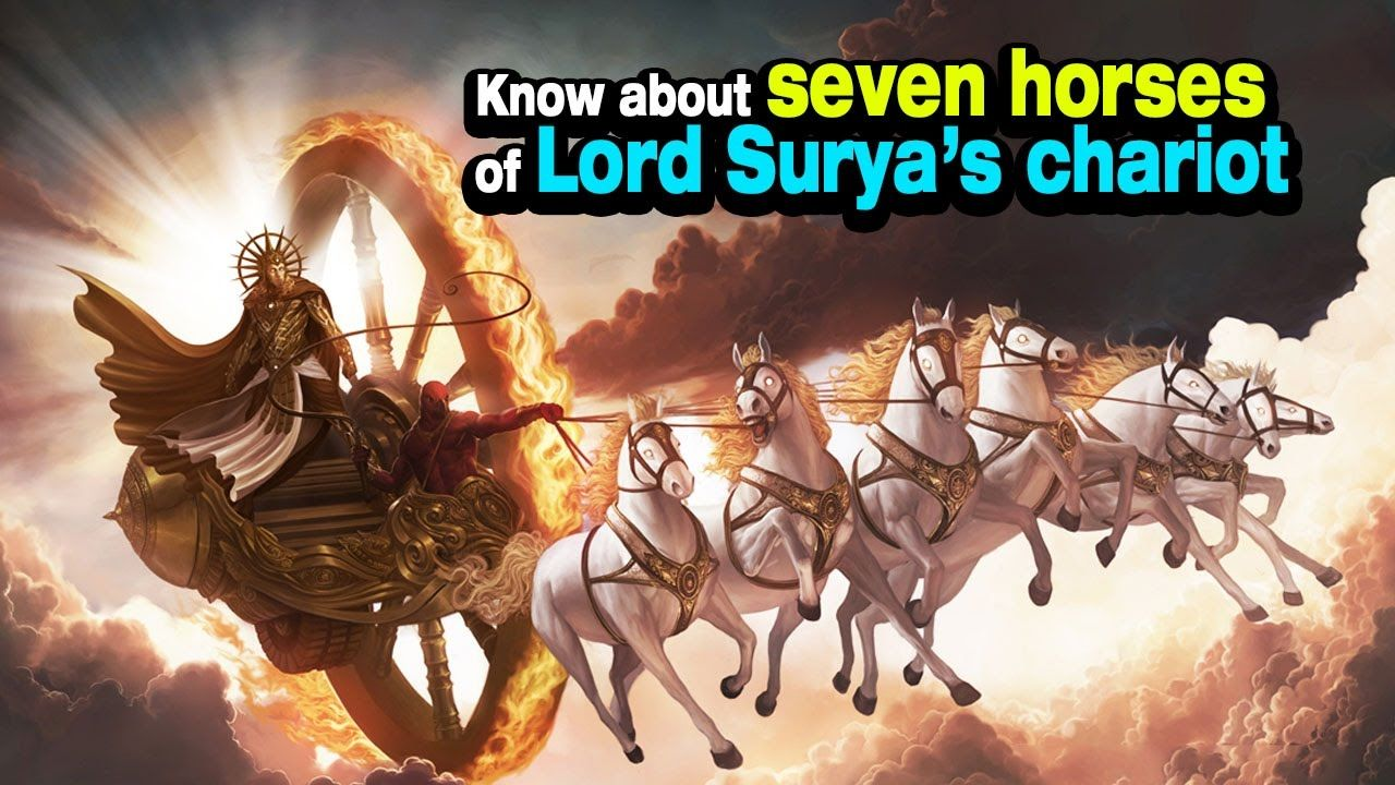 The seven (7) Horses of the Sun's Chariot