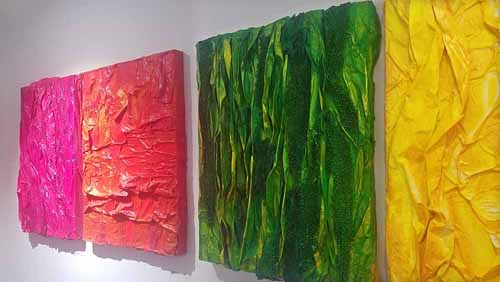 paintings by Tiffany Gholar at The Other Art Fair