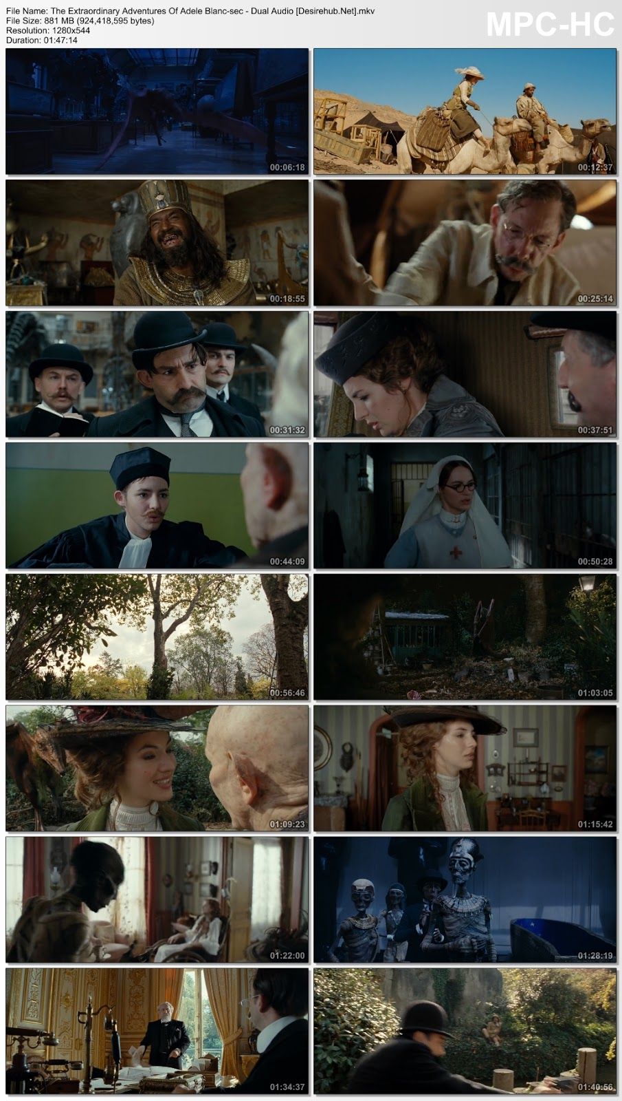 The Extraordinary Adventures Of Adele Blanc-sec 2010 Dual Audio Hindi 720p BluRay 850MB Desirehub