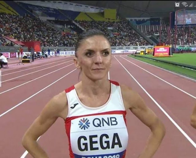 Luiza Gega, the first Albanian to qualify for the World Athletics Final