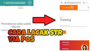 cara lacak STR online