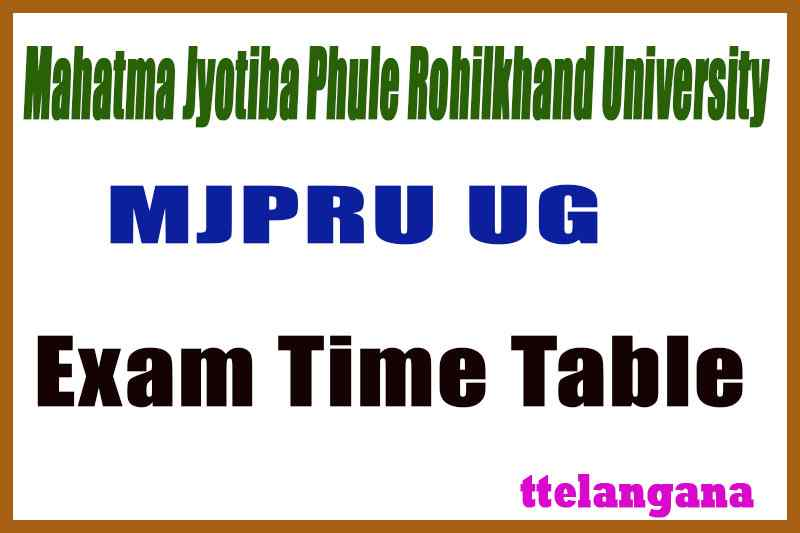MJPRU Mahatma Jyotiba Phule Rohilkhand University BA B.Sc B.Com 1st 2nd 3rd Exam Time Table