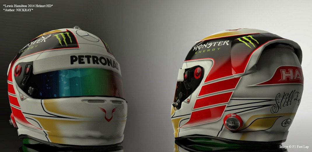 Lewis Hamilton 2014 helmet