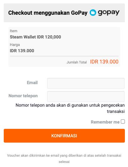 voucher steam code dengan gopay