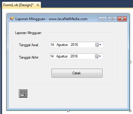 Membuat Laporan Mingguan Crystal Report Pada Vb Net 2010 Jnm Javanet Media