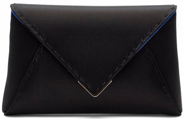 Lee clutch in black satin