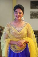 Actress Eesha in Yellow Choli Blue Ghagra at Darshakudu music launch 005.JPG