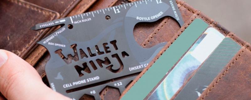 Wallet Ninja, 18 herramientas en el tamaño de una tarjeta de crédito