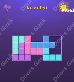 Cheats, Solutions, Walkthrough for Move Blocks Easy Level 91