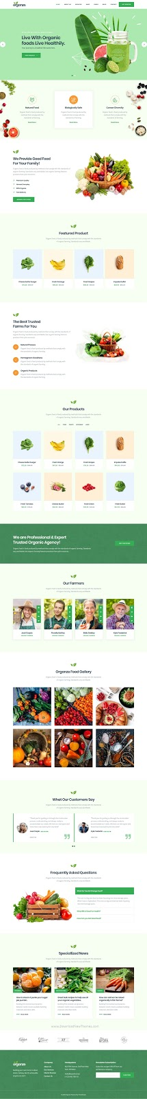 Organic Food & Farming Template