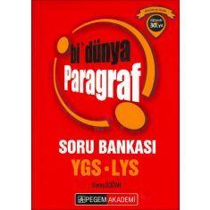 Pegem Akademi YGS LYS Bi Dünya Paragraf Soru Bankası (2016)
