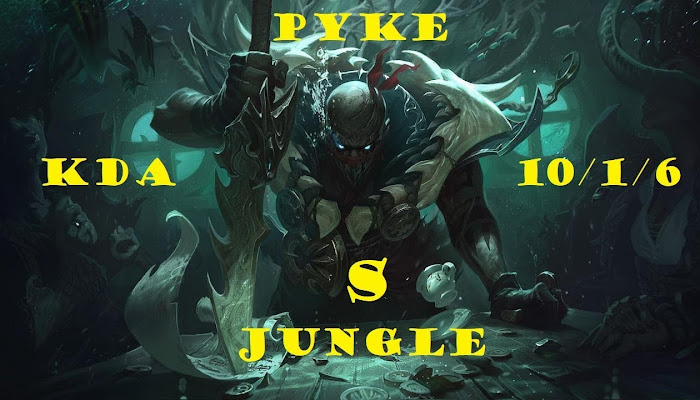 amigo681 *BoMb | Ranked | Pyke - Jungle kda 10/1/6 | League of Legends | LoL