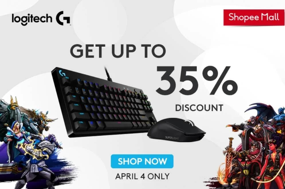 Up to 35% Off on Logitech Products this Shopee 4.4 Mega Shopping Sale!