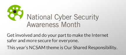 Messaging about share responsiblity from National Cyber Security Awareness Month 2014
