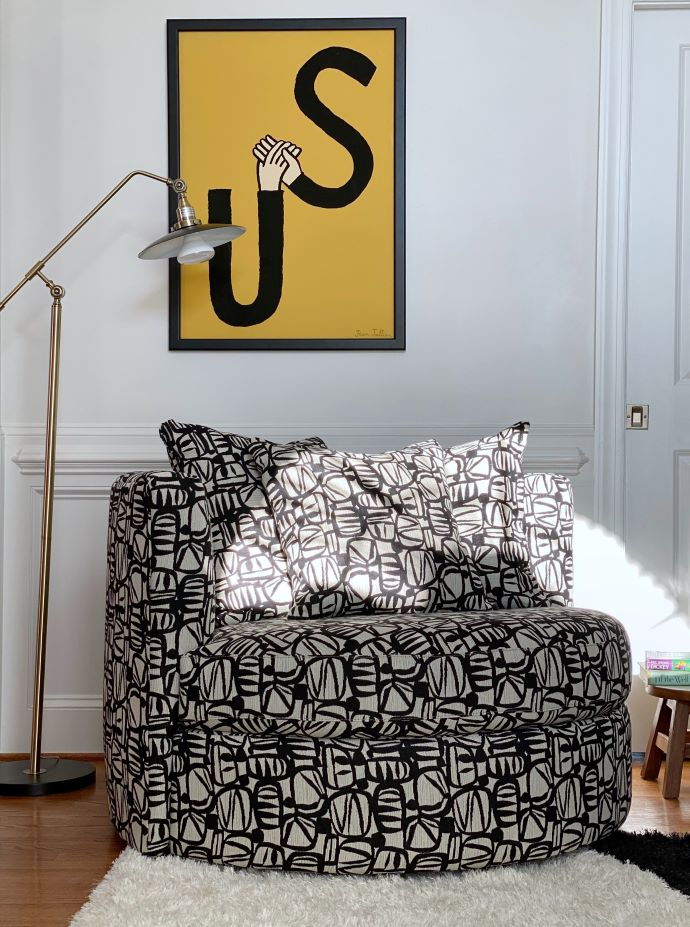 The Playroom Refresh-love this statement chair-designaddictmom