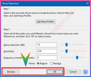 Croben.com Reduce Audio Noise Step 8