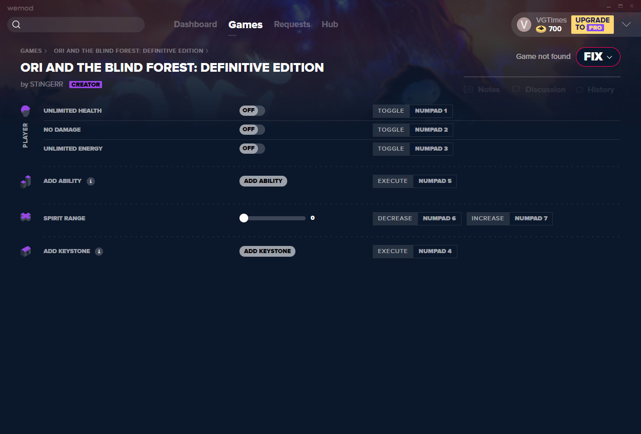 Ori and The Blind Forest: Definitive Edition: Trainer (+6) from 01/07/2021 [WeMod]