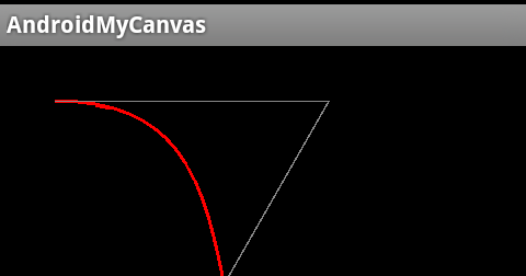 Android Coding: Draw cubic bezier on path - cubicTo()