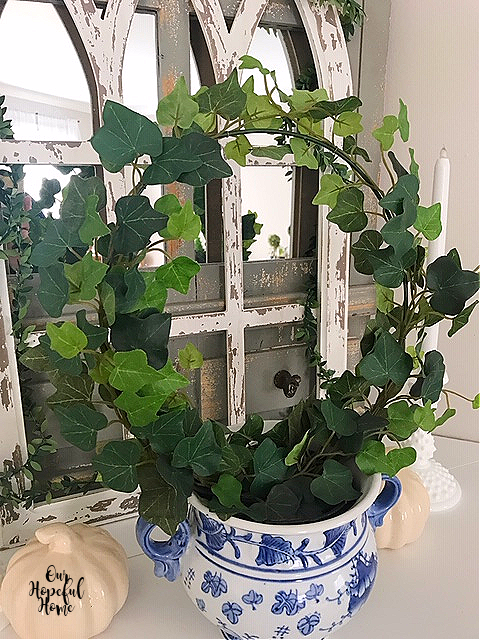 faux leaves ivy round wire topiary