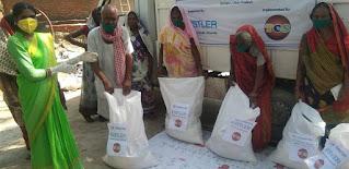 वार्षिकोत्सव पर जरूरत मंदों में बांटा खाद्यान्न व धान के बीज    #NayaSaberaNetwork