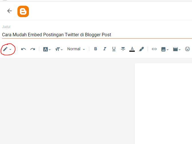 TAMPILAN HTML BLOGGER