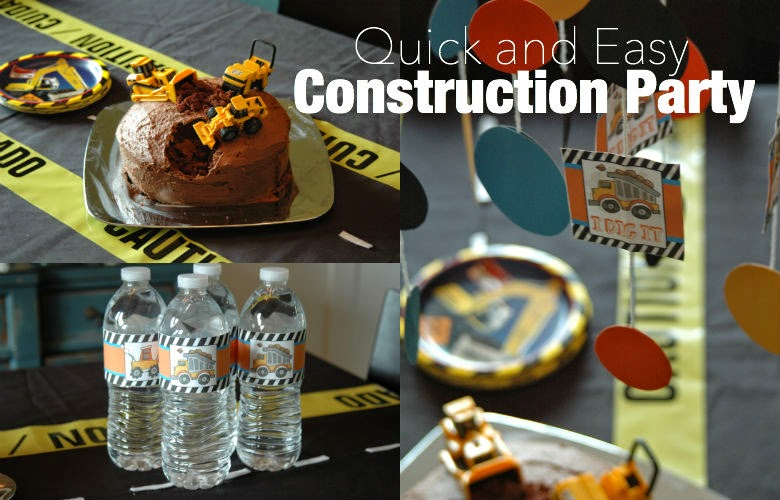 Quick and Easy Construction Birthday Party