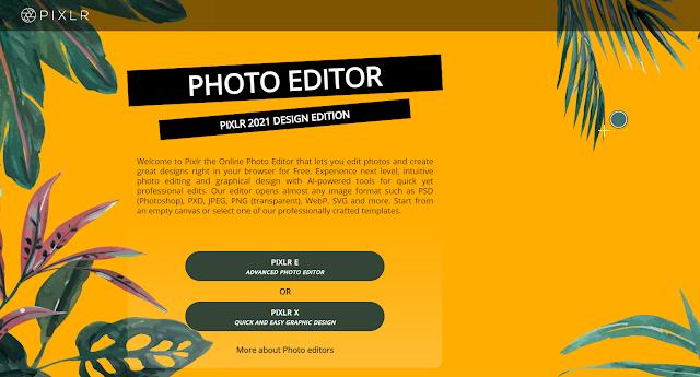 تطبيق Pixlr هو محرر صور مجاني على الإنترنت مليء بالعديد من الميزات المتقدمة
