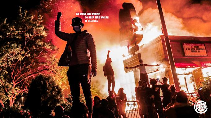 Mantenga el fuego donde pertenece: en la parrilla. Una campaña para Burger King contra el racismo
